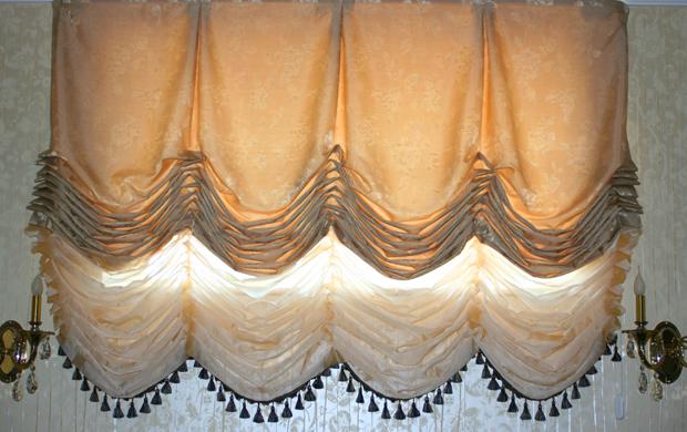 Конструкция австрийских штор