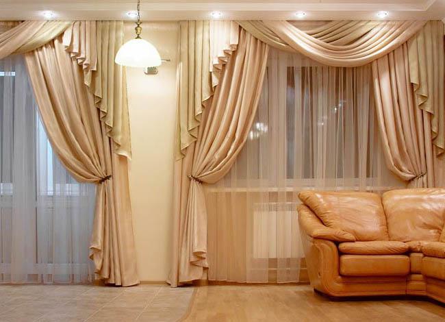Шторы для гостиной или зала